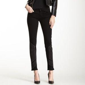 J Brand | Shalom Midrise Black Studded Skinny Jean